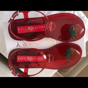 Red Jelly Strawberry Sandals